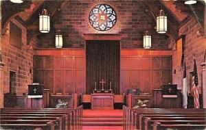 Bloomfield Iowa~Christian Church~Chancel Interior~Psalm 96~1950s Postcard