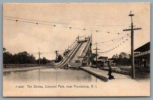 Postcard Providence RI c1905 The Chutes 5 Cents Crescent Park Amusement Park
