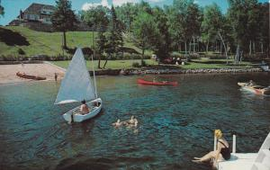 MONT TREMBLANT, Quebec, Canada, 1940-1960's; Manoir Pinoteau On Lac Tremblant...