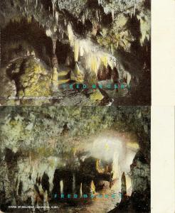 1904 Matanzas Cuba Postcards: Caves of Bellamar, 2 Views with Fresh Colors