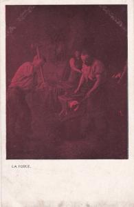 TUCK #246; Red Tint, La Forge, Blacksmiths, 1900-10s
