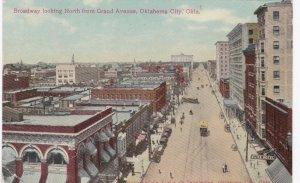 Oklahoma Oklahoma City Broadway Looking North From Grand Avenue 1910 sk3504