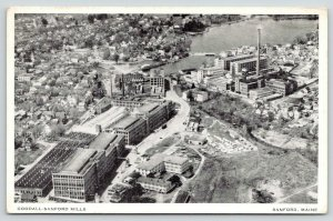 Sanford Maine~Birdseye Goodall Sanford Factory Mills~Homes~Downtown~1940s B&W