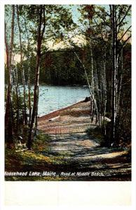 Maine Moosehead Lake,  Road at Middle Beach