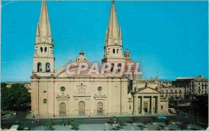 Modern Postcard Front side view of the cathedral of guadalajara in the state ...