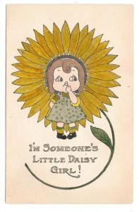 Fantasy Flower Postcard I'm Someone's Little Daisy Girl