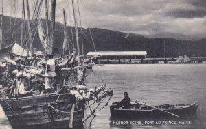 PORT AU PRINCE, Haiti, 1930-1950s; Harbor Scene, Boats