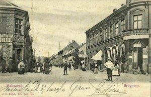 sweden, HALMSTAD, Brogatan, Hotel Central (1906) Postcard