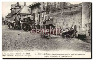 Pont L & # 39eveque Postcard Old German came out of the home furniture & # 39A