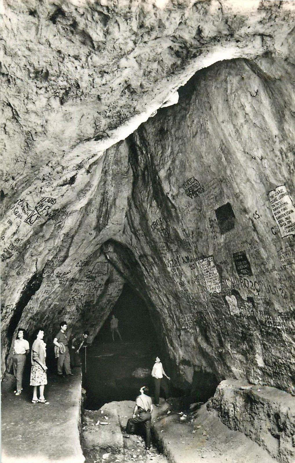 Romania Baile Herculane Grota haiducilor 1960s real photo postcard cave interior / HipPostcard