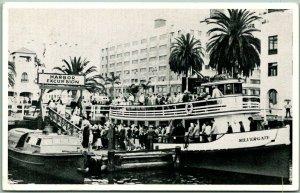 San Diego, California Postcard Excursion / Tourist Boat SILVERGATE at Dock 1954