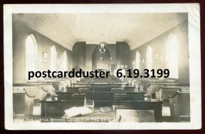 3199 - NASHUA Iowa 1934 Little Brown Church in the Vale Interior. Real Photo PC