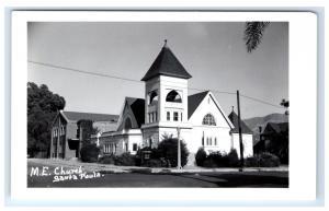 Postcard M.E. Church, Santa Paula, CA RPPC H12