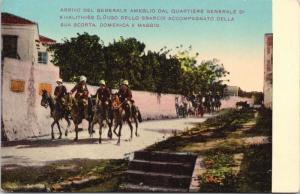 Rhodes Arrival of General Ameglio Italo-Turkish War Greece Repro Postcard D68