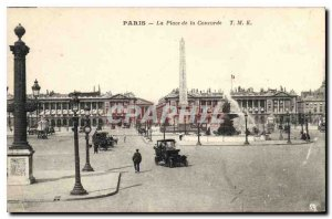 Postcard The Old Paris Concorde Square