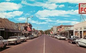 OR, Milton-Freewater, Oregon, Business District, 1970s Cars, Dexter Press No....