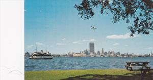 Ferry Boat, Airplane, The Toronto Skyline As Seen From Toronto Islands, Toron...