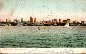 New York City View From Hoboken 1908