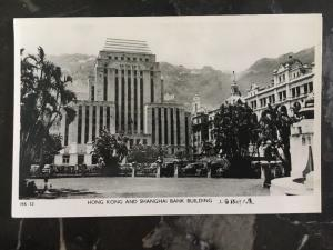 Mint Hong Kong RPPC Real Picture Postcard HK & Shanghai Bank Building