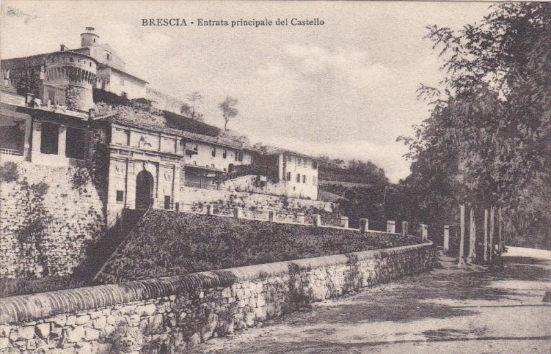 BRESCIA , Lombardia ,  Italy , 1900-10s : Entrata principale del Castello