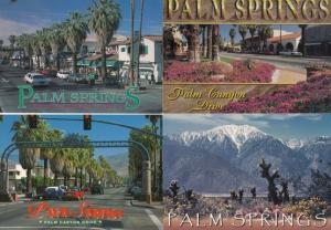 Palm Canyon Drive Springs 4x Stunning USA Postcard s