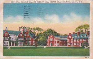 New York Geneva Coxe Hall Williams Hall And Medbery Hall Hobart College Campu...
