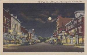 Ohio Norwalk Night View Main Street