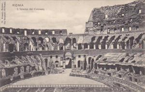 Italy Roma Rome L'Interno del Colosseo