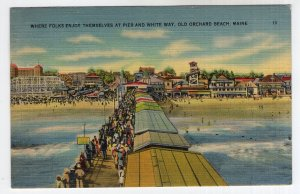 Old Orchard Beach, Maine, Where Folks Enjoy Themselves At Pier And White Way