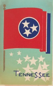 TENNESSEE , State Flag , 40-50s ; Serigraph
