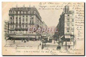 Old Postcard Lyon Street Tramway Republic