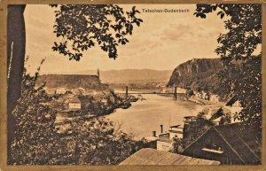 TETSCHEN BODENBACH DECIN CZECH REPUBLIC~PANORAMA~1927 PHOTO POSTCARD