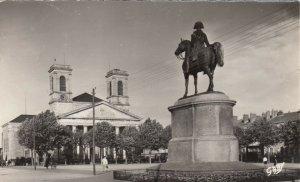 RP: LA ROCHE-SUR-YON, France, PU-1959; Statue de Napoleon, L'Eglise Saint-Louis