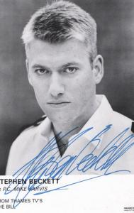 Stephen Beckett as Mike Jarvis in The Bill Vintage Hand Signed Cast Card Photo