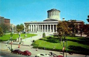 Ohio Columbus State Capitol and McKinley Statue