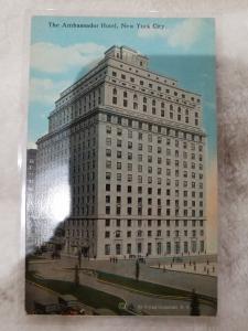 Antique Postcard, The Ambassador Hotel, New York City
