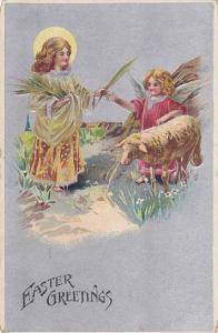 Easter greetings , 00-10s , Kids & Sheep