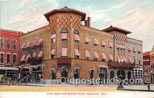 Union Bank & Oakland Hotel Marysville, Ohio, USA Postcard Post Card Marysvill...