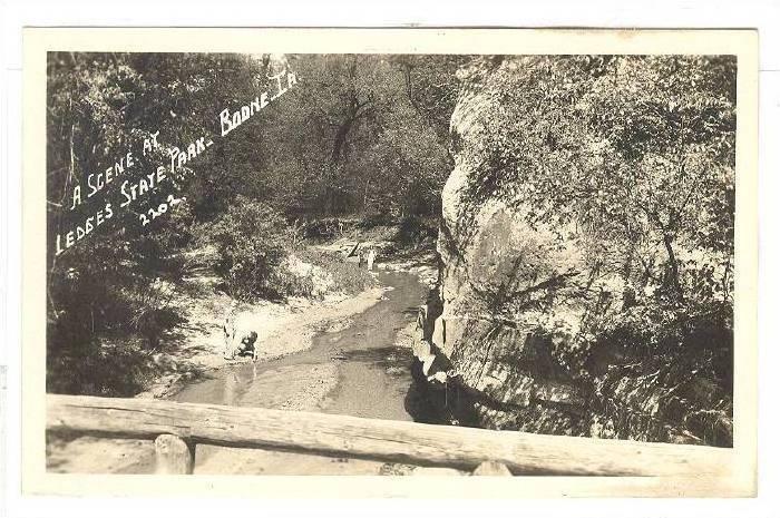 A Scene at Ledges State Park, Bodne, Iowa,1930-1940s