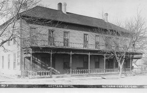 G33/ Guthrie Center Iowa RPPC Postcard c1910 Cottage Hotel Building