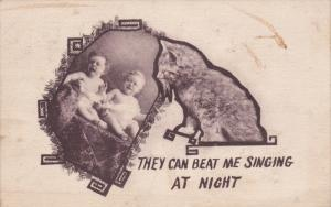 They can beat me singing at night, Cat looking at crying babies, 00-10s