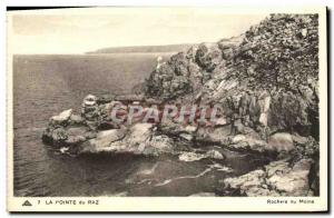 Old Postcard Pointe du Raz monk Rocks