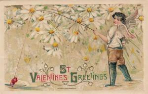 JOHN WINCH; Samuel Schmucker: PU-1911, Valentine's Greetings, Cupid Fishing