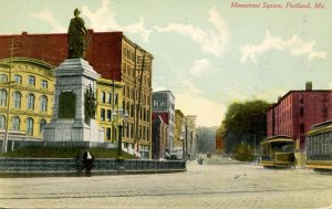 ME - Portland. Monument Square, Trolleys