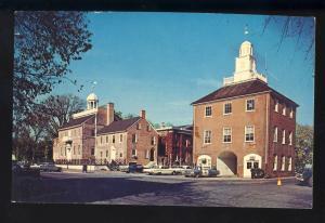 New Castle, Delaware/DE Postcard, Court House & Market Building, 1960's Cars