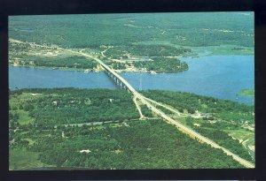 Old Saybrook/Old Lyme, Connecticut/CT Postcard, Aerial View Of Baldwin Bridge