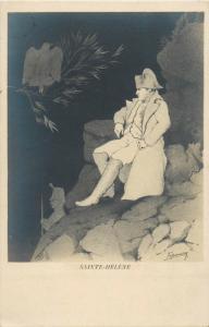 NAPOLEON French military & politic leader by Espinassy Jugendstil Saint Helena