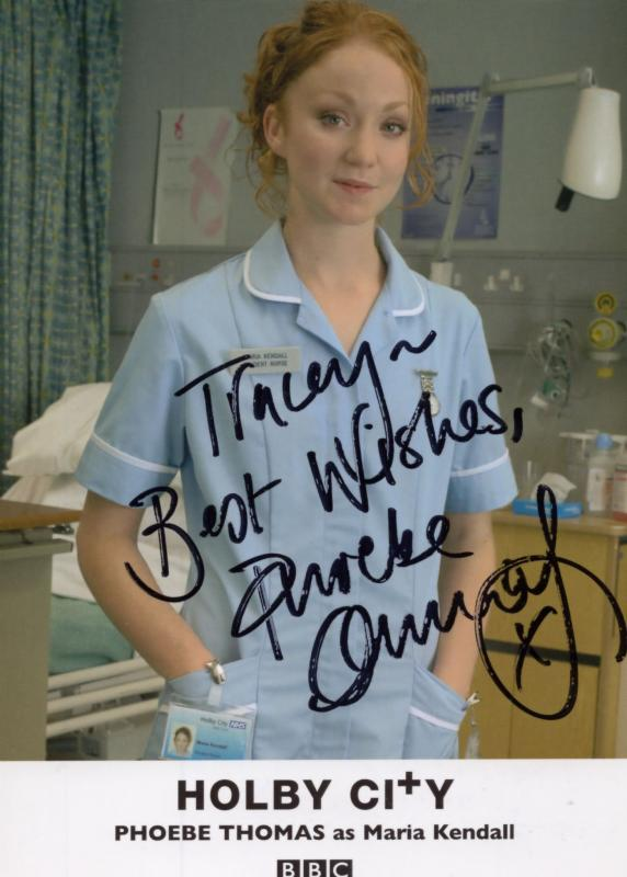 Phoebe Thomas as Maria Kendall BBC Holby City Hand Signed Cast Card Photo