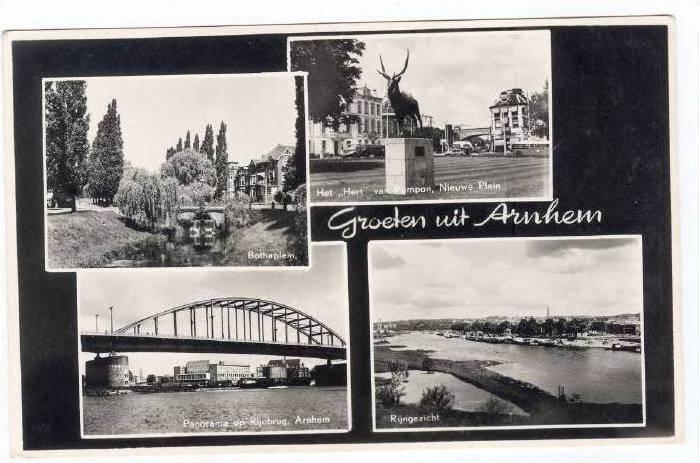 RP  Arnhem , Netherlands, 1940s 4-views
