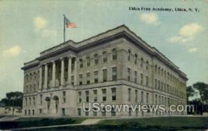 Utica Free Academy Utica NY Postal Used Unknown